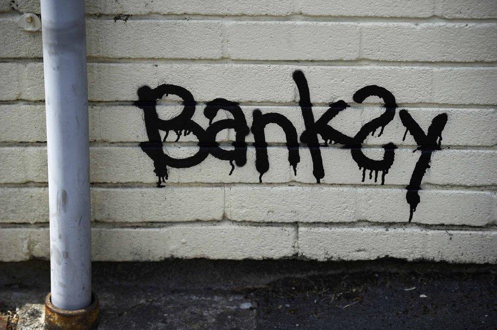 Banksy murales scuola