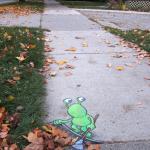 David Zinn chalk art sluggo