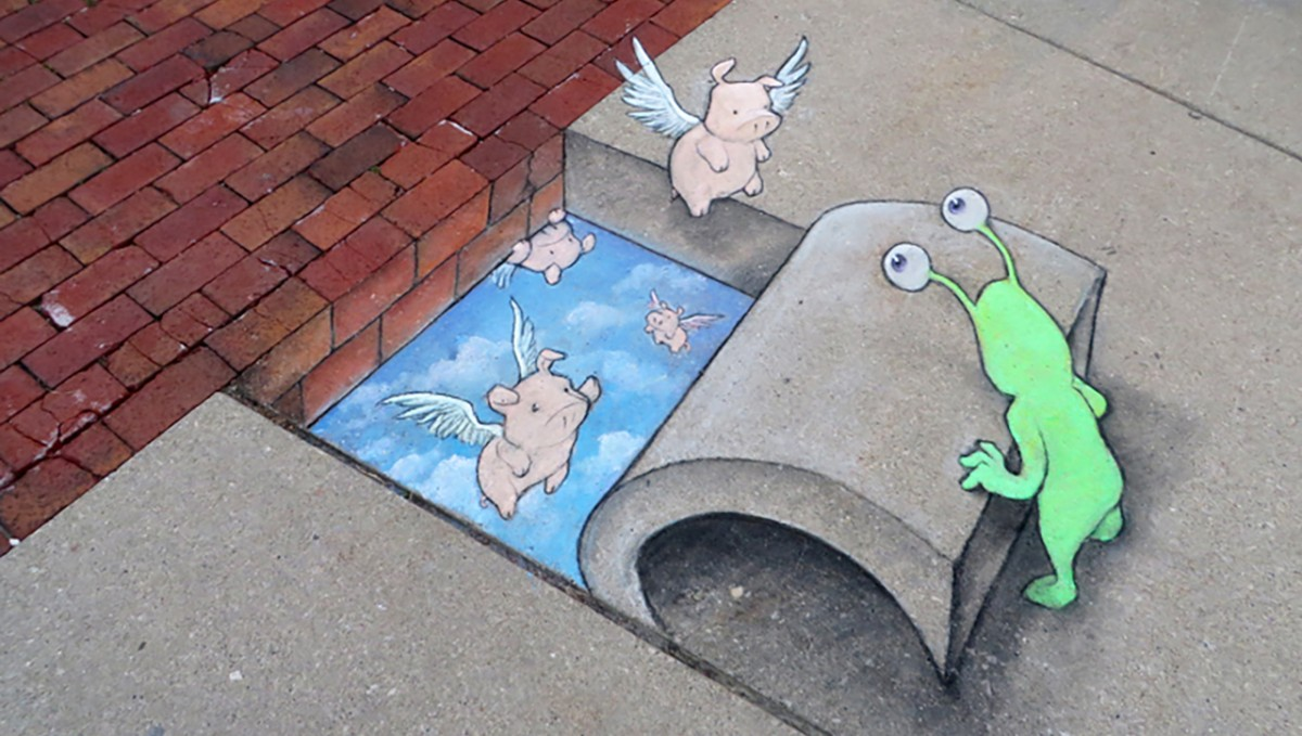 david zinn chalk art