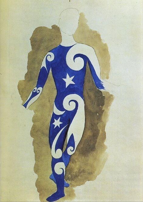 Parade Costume disegnato da Picasso