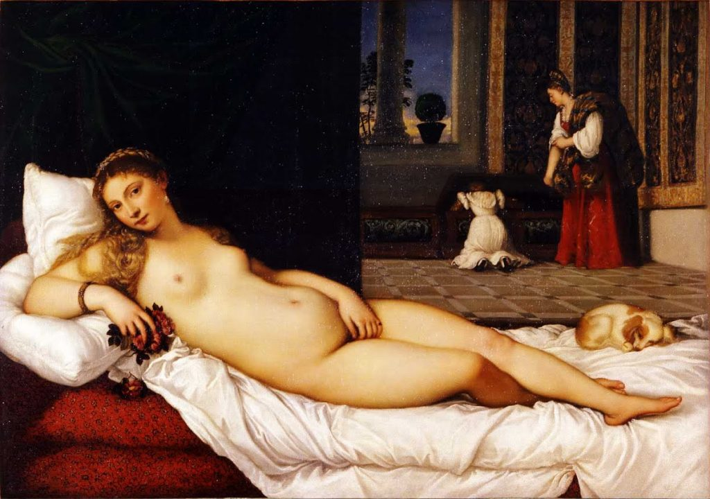 venere Tiziano a Urbino