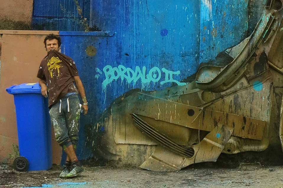 Bordalo II waste art