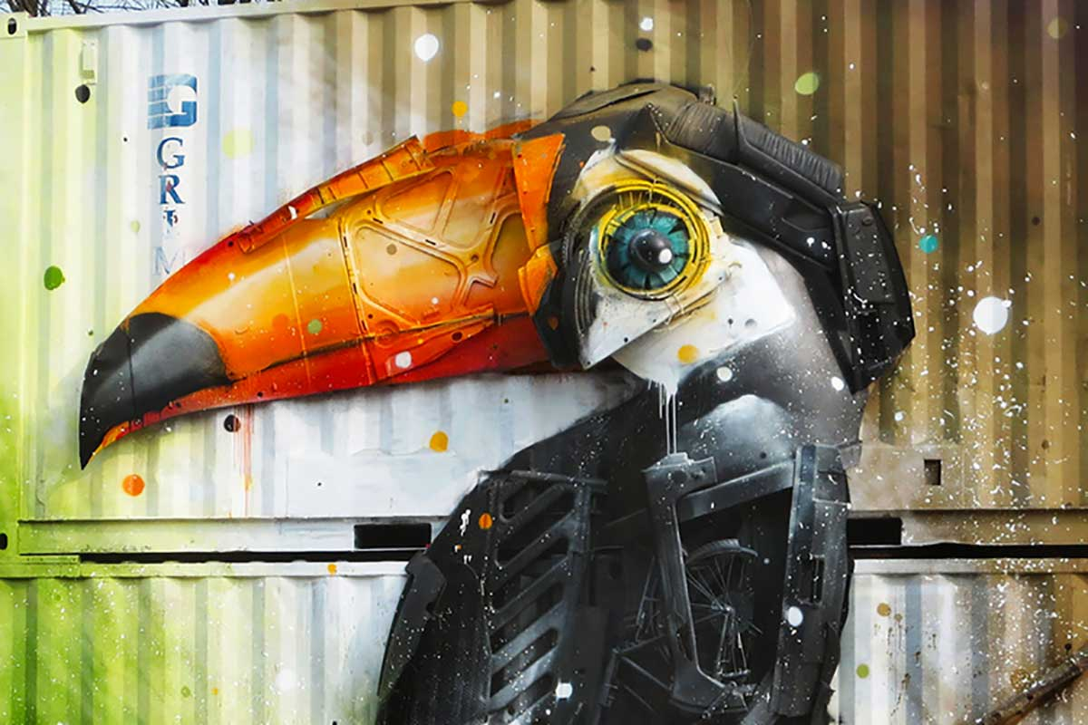 waste art bordalo II tucano