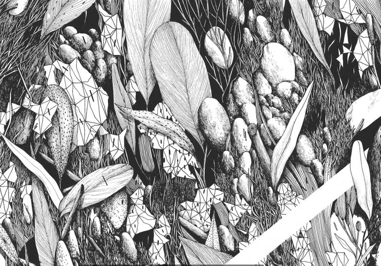 Tellas- Intervallo (detail) - 100x70cm - ink on paper