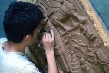 Nenous thabit scultore contemporanea