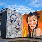 Lollapallooza art cube Urban Nation