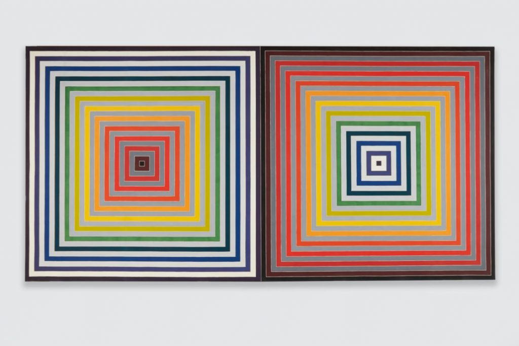 Frank Stella Paradoxe sur le comediene, 1974 Synthetic polymer paint on canvas Private Collection, NY © 2017 Frank Stella : Artists Rights Society (ARS), New York, Photo Credit- Jason Wyche.
