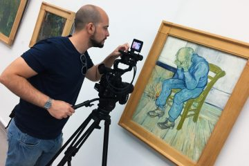 Van Gogh tra il grano e il cielo back stage