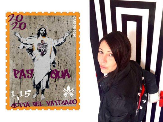 alessia babrow francobollo